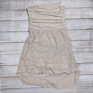 Bandeau high low Bandeau Dress